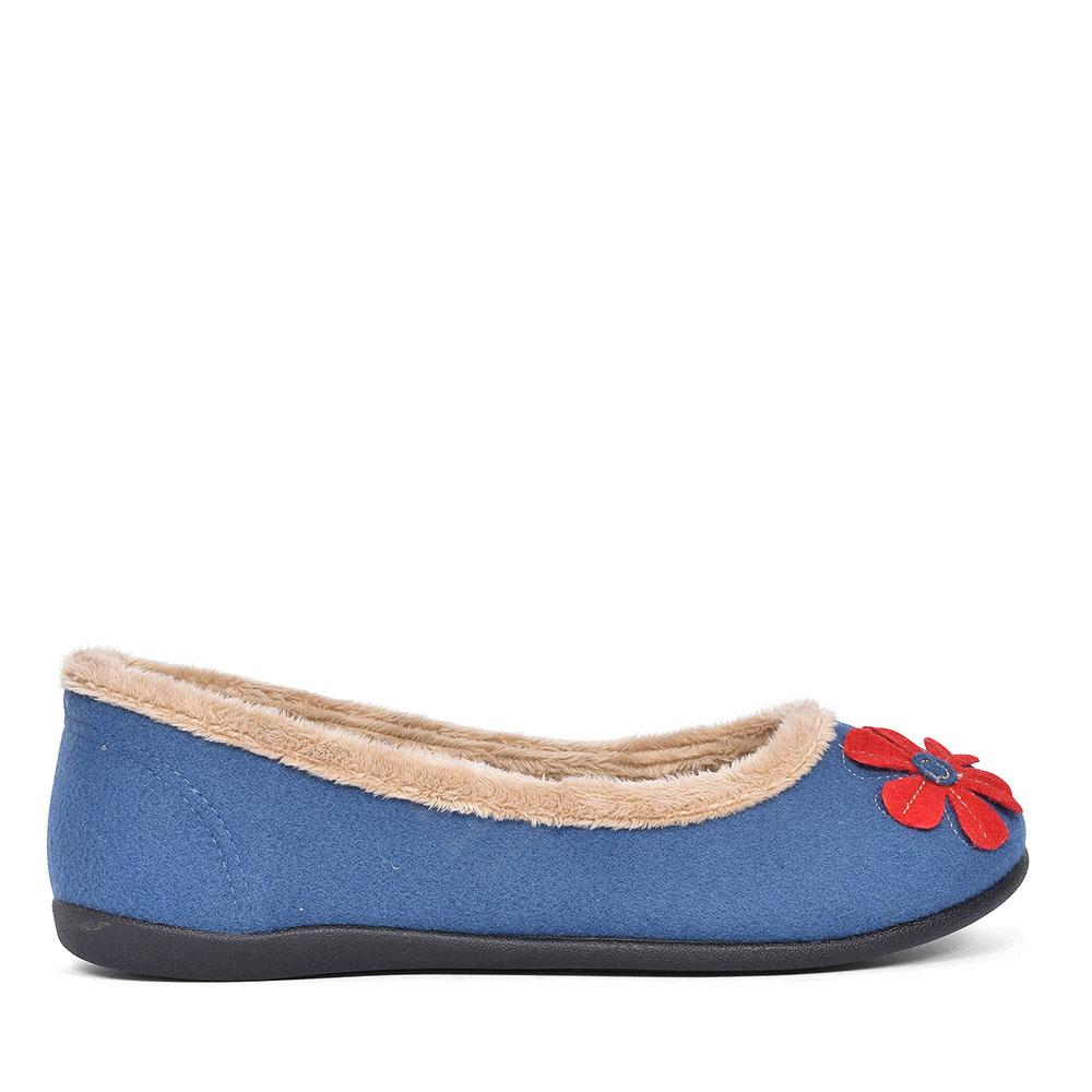 HAPPY FLOWER SLIPPER FOR LADIES in BLUE
