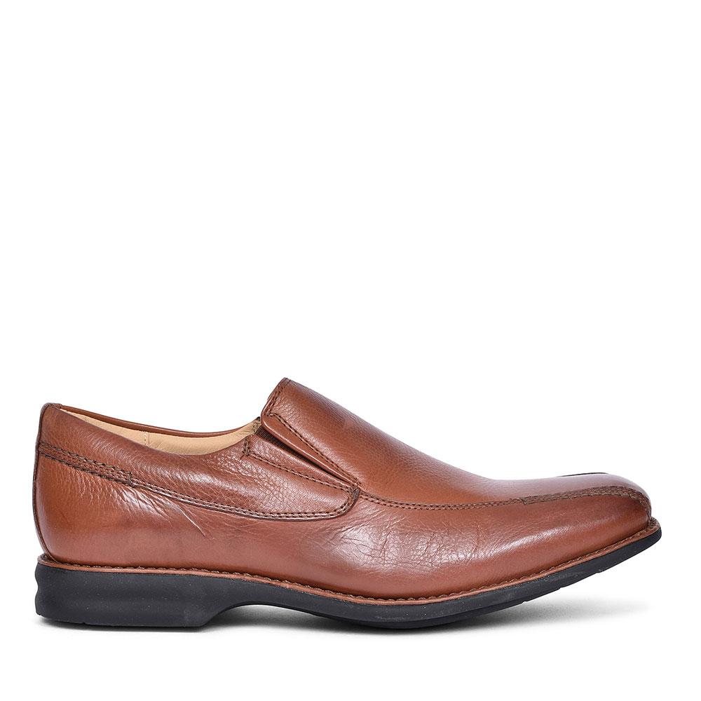747499 Belem Leather Slip on Shoes for Men in TAN