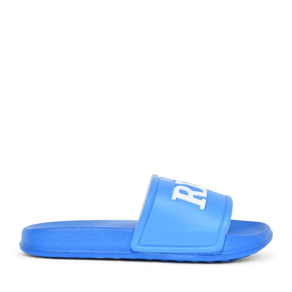 BOYS S22966R EMBOSSED SLIDER SANDAL in BLUE