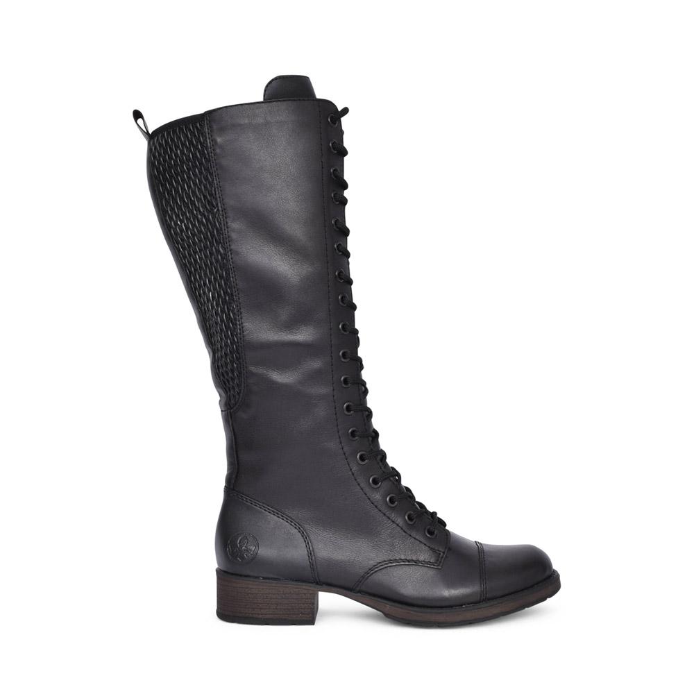 LADIES Z9542 LACED LONG LEG BOOT in BLACK
