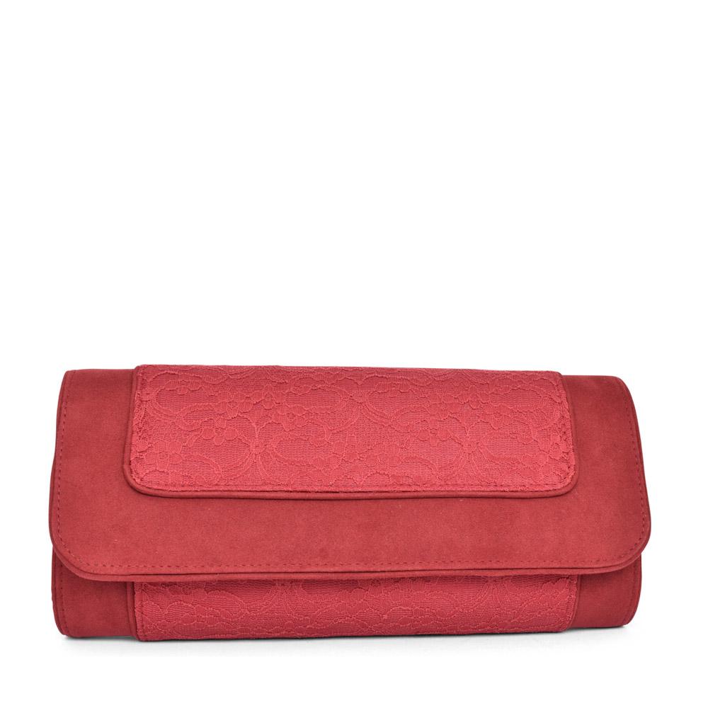 LADIES TIRANA CLUTCH BAG in RED